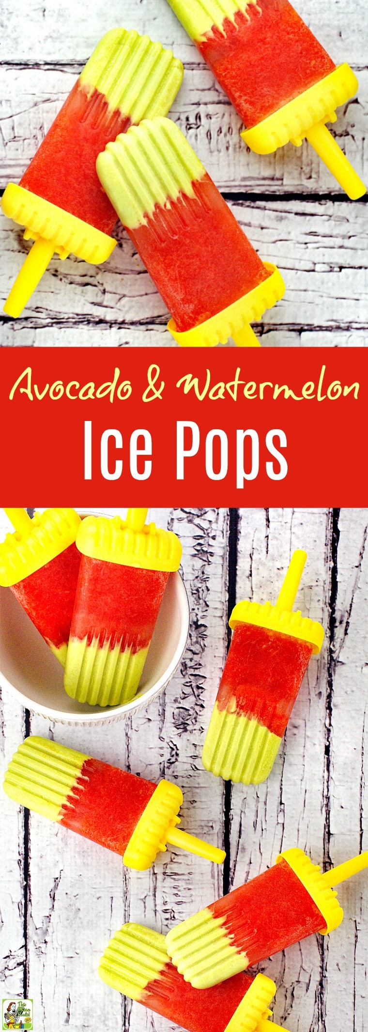 Kids will love making this healthy Avocado & Watermelon Ice Pops recipe. Click to get this easy to make dairy free coconut milk and fruit popsicle recipe. It's gluten-free and sugar-free, too!