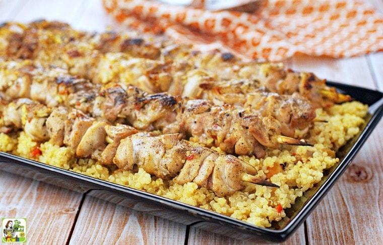 Easy Chicken Skewers with Orange Quinoa
