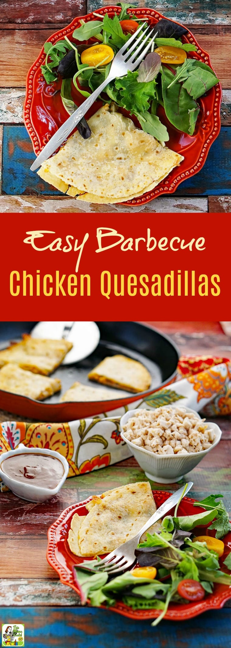Make this Easy Barbecue Chicken Quesadillas recipe for dinner with a side salad. Click to get this easy bbq chicken quesadilla recipe.