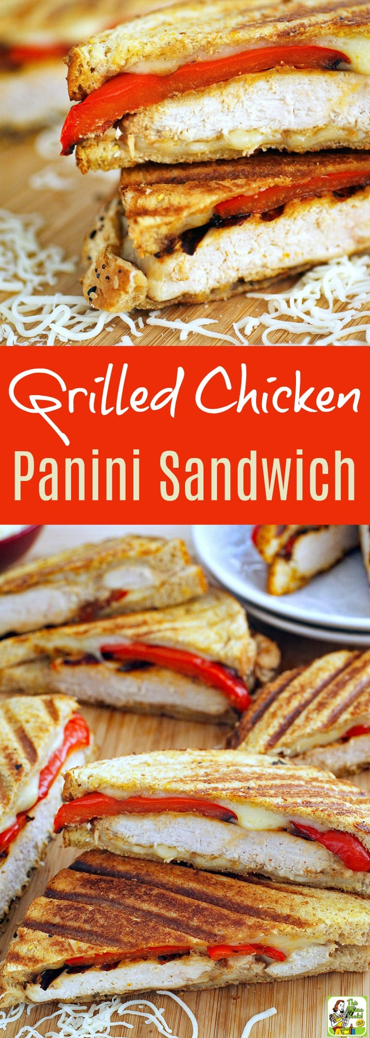 Looking for new grilled chicken meal ideas for easy weeknight dinners? Click to get this Grilled Chicken Panini Sandwich recipe. Super tasty because of the Greek yogurt marinated chicken. Serve on your favorite gluten free bread to make a gluten free grilled chicken panini recipe.