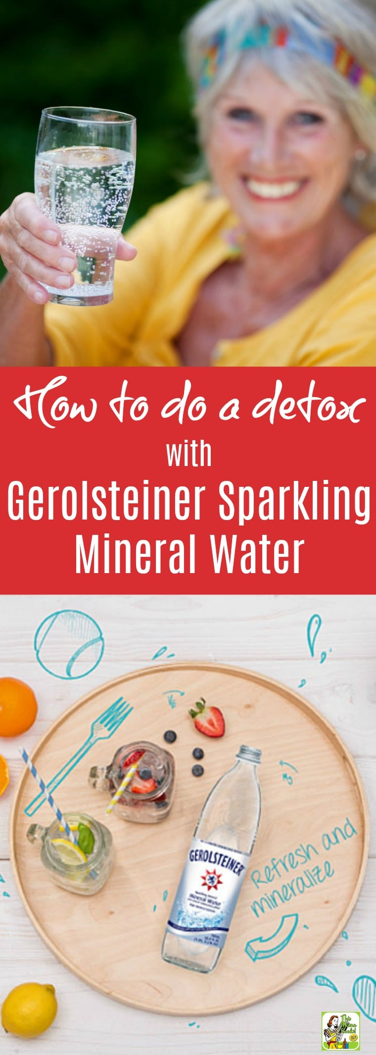 How to do a detox with Gerolsteiner Sparkling Mineral Water. Have you wondered how to do a detox cleanse but didn't know how? Or maybe you thought detoxes were super complicated involving all kinds of special powders and juices? Well, then the Gerolsteiner's Sparkling Detox challenge is for you! #GerolsteinerUSA #sparklingdetox #sponsored