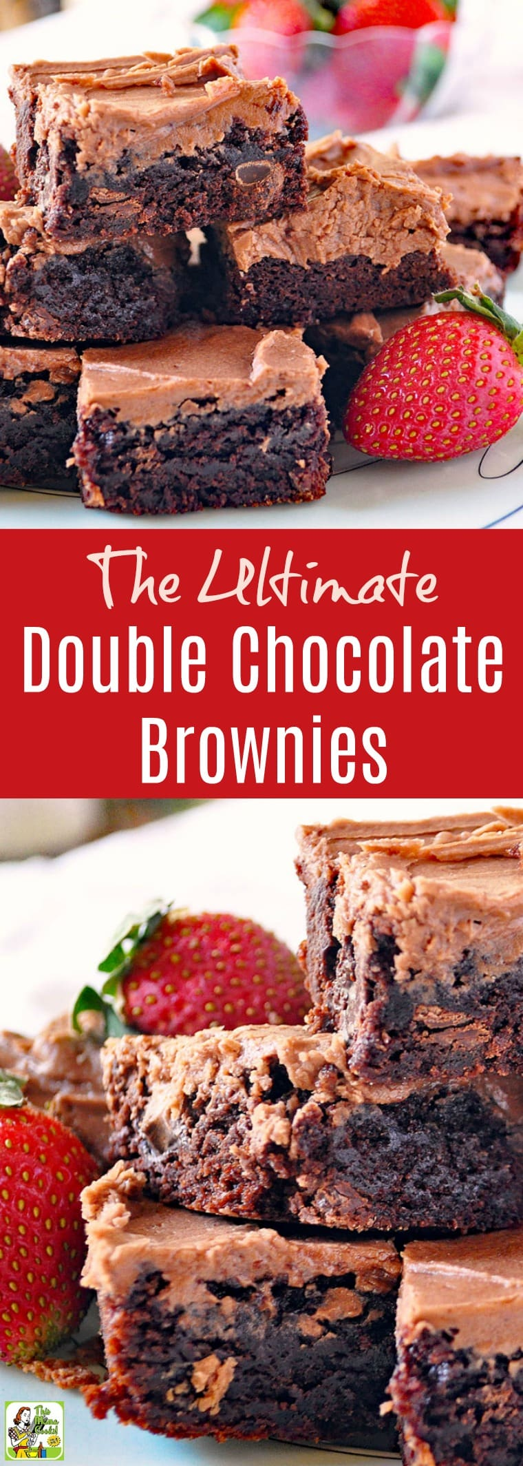 The Ultimate Double Chocolate Brownies Recipe. Click to get this easy chocolate brownies recipe. Comes with tips for making this chocolate dessert recipe gluten free, dairy free, and nut free.