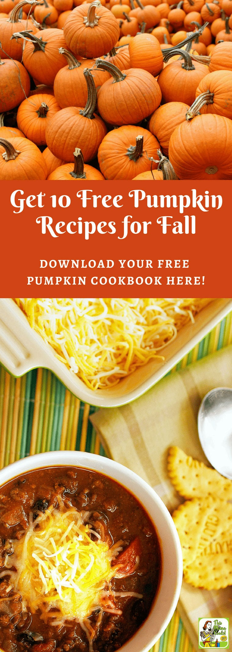 Click here to get your free cookbook 10 Pumpkin Recipes for fall. In it, you'll get 10 easy to make, healthy pumpkin recipes. You'll find delicious pumpkin recipes for breakfast, snack, lunch, dinner, and dessert. Includes tips for making recipes gluten free and dairy free. You'll find reduced sugar, or sugar free pumpkin recipes, too!