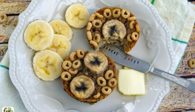 Gluten Free Banana Oatmeal Muffins with Banana Nut Cheerios recipe
