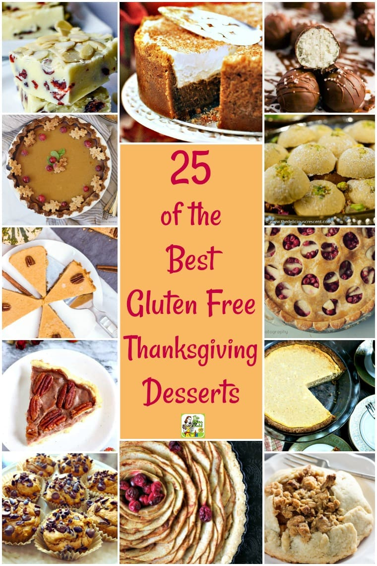 Looking for some unique gluten free Thanksgiving desserts recipes to serve this year? Here are 25 of the Best Gluten Free Thanksgiving Desserts. Your family will love these easy gluten free thanksgiving desserts recipes.