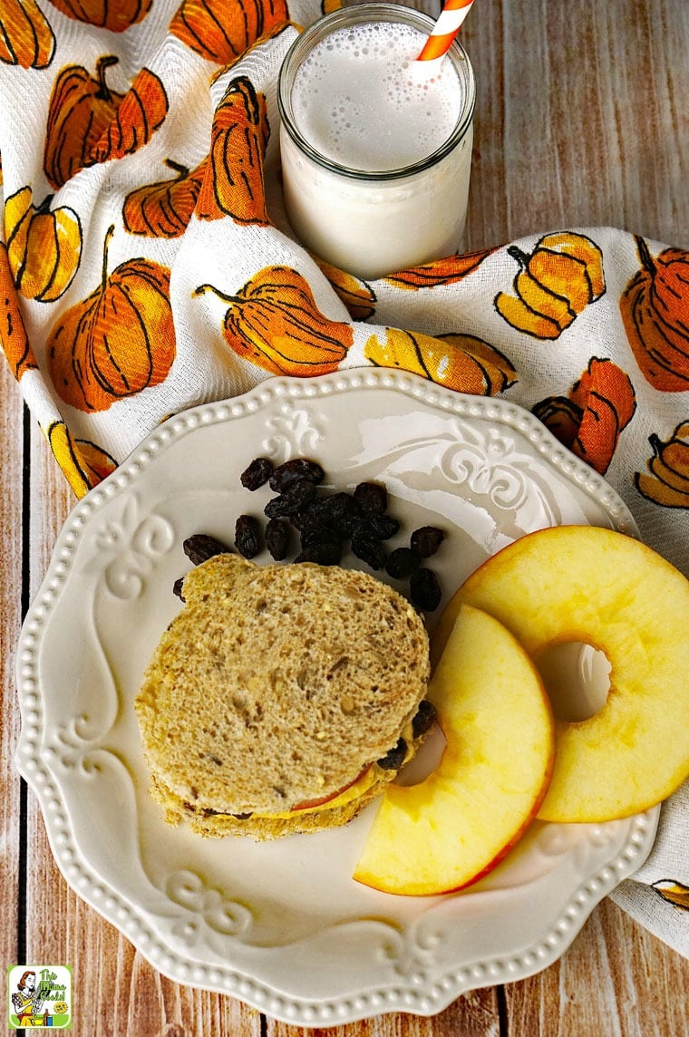 This cream cheese pumpkin dip recipe is used to make pumpkin shaped sandwiches.
