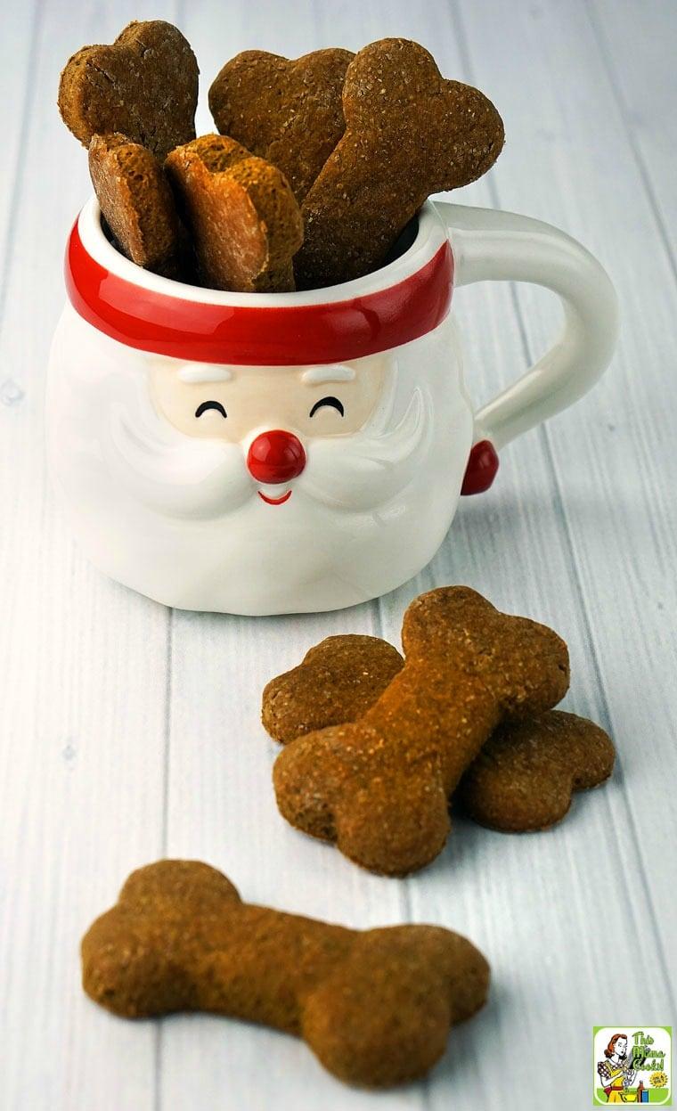 Homemade dog treats recipes are easy to make and make terrific holiday gifts!