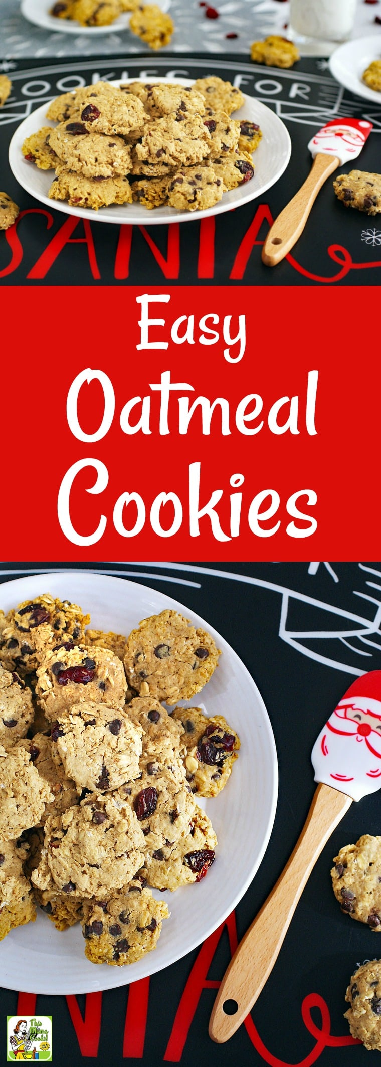Easy Oatmeal Cookies for Cookie Swaps is the best oatmeal raisin cookie recipe for Christmas cookie exchanges. By adding optional ingredients like cranberries, chocolate chips or raisins, you can make a variety of gluten free oatmeal cookies. These holiday cookie swap cookies are also dairy free. Place the dry ingredients in a Mason jar for a homemade holiday gift. #glutenfree #dairyfree #cookies #cookie #homemadegift #cookieswap #cookieexchange #baking #Christmas #holiday