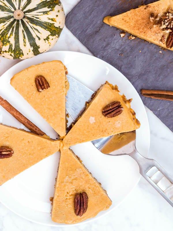 Gluten Free Thanksgiving Desserts - Vegan Pumpkin Pie from Avocado Pesto