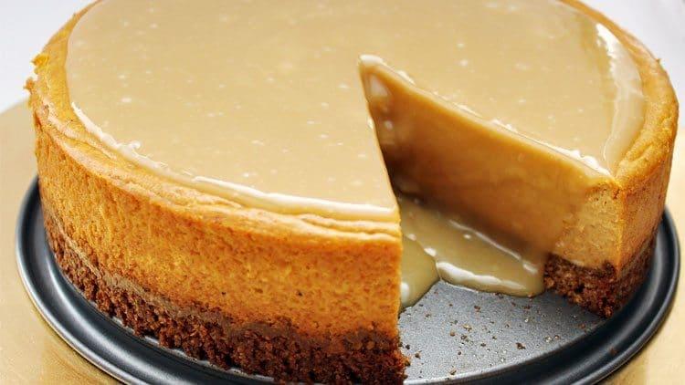 Gluten Free Thanksgiving Desserts - Gluten-Free Pumpkin Maple Cheesecake from All She Cooks
