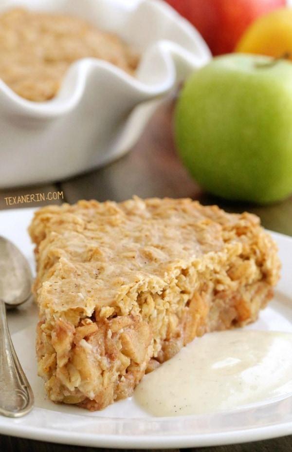 Gluten Free Thanksgiving Desserts - Swedish Apple Pie from Texanerin Baking