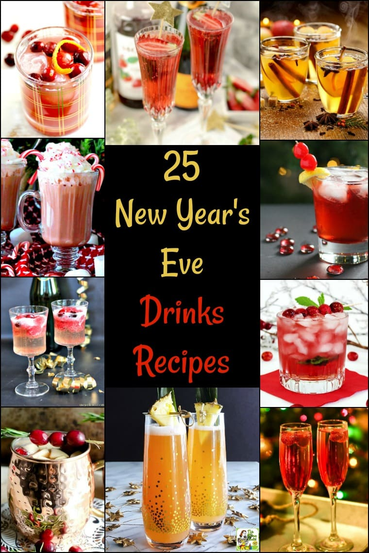 On the search for some New Year's Eve drink ideas? Here are 25 New Year's Eve Drinks Recipes for Your Party! #cocktails #mocktails #recipes #party #parties #newyears #newyearseve #drinks #drinking #mixology