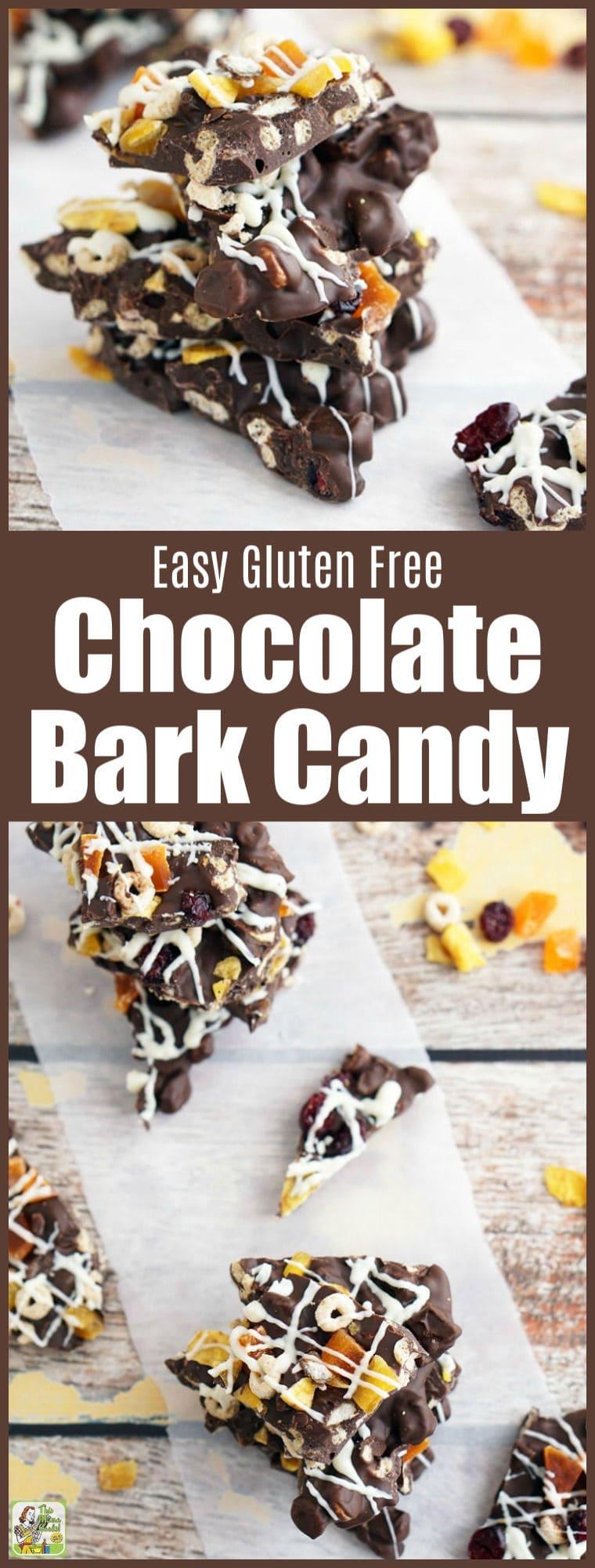 Easy Gluten Free Chocolate Bark Candy Recipe