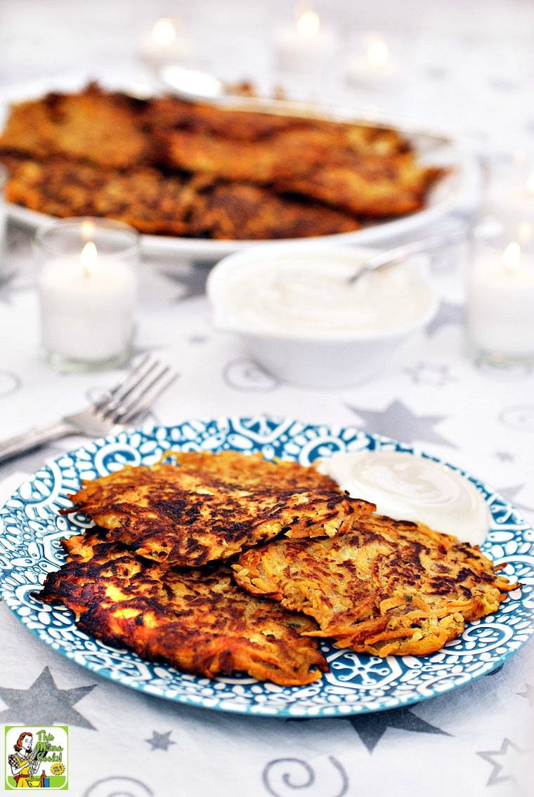 A plate of Sweet Potato Pancakes