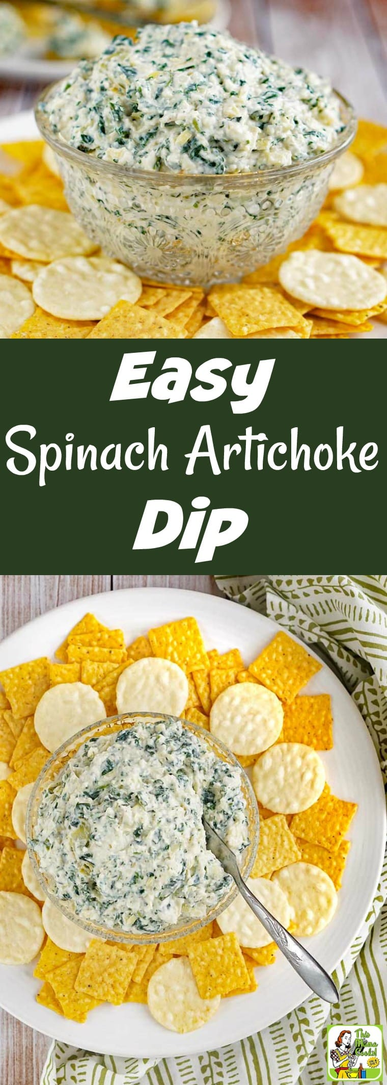 How to Make the Easiest Spinach Artichoke Dip Ever! You'll love this spinach artichoke dip recipe! It's made with Plain Silk Almondmilk Yogurt Alternative and can be made completely vegan with a few simple changes. Your guests will love this delicious party appetizer and it can be made in 20 minutes! #yogurt #spinach #appetizer #dip #vegan #glutenfree #dairyfree