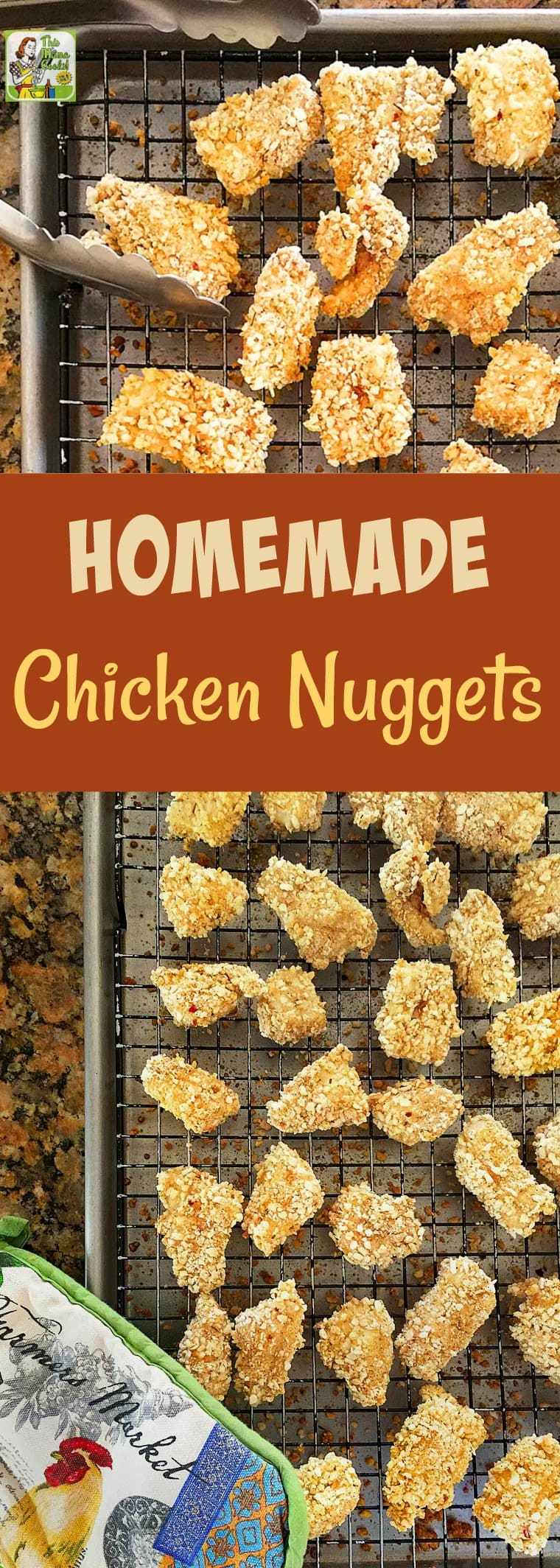 Homemade Chicken Nuggets make easy-to-serve appetizers. This chicken nuggets recipe is gluten-free and kids will love them served with dipping sauce! Make this chicken nugget recipe as a kids' meal or party appetizer. #recipe #glutenfree #chicken #chickennuggets #kidfriendly #kidfood #appetizer #kidsmeals #appetizers