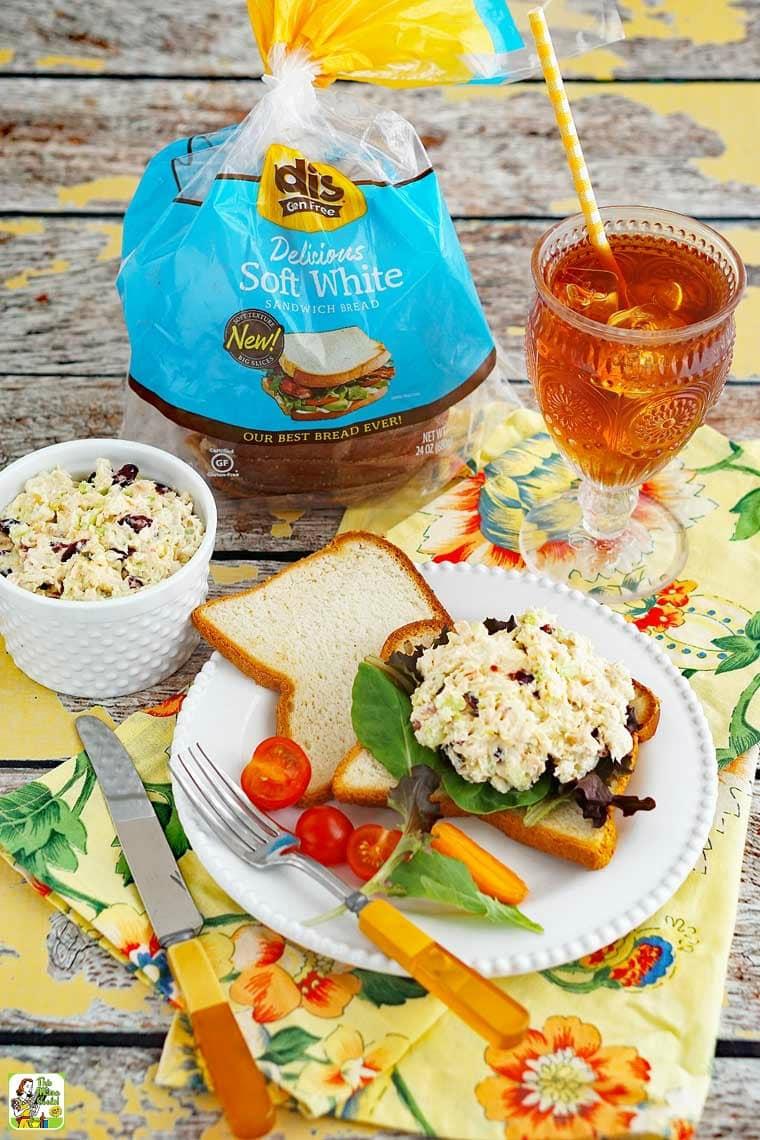 NEW Udi's Gluten Free breads makes chicken salad sandwich recipes even better!