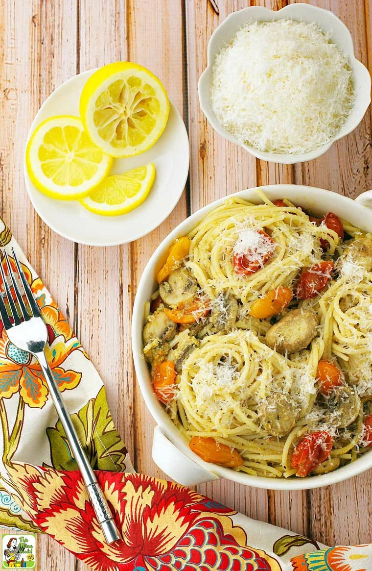 This crab pasta recipe can be made several ways. You can use real or imitation crab, add shrimp, or leave out the tomatoes.