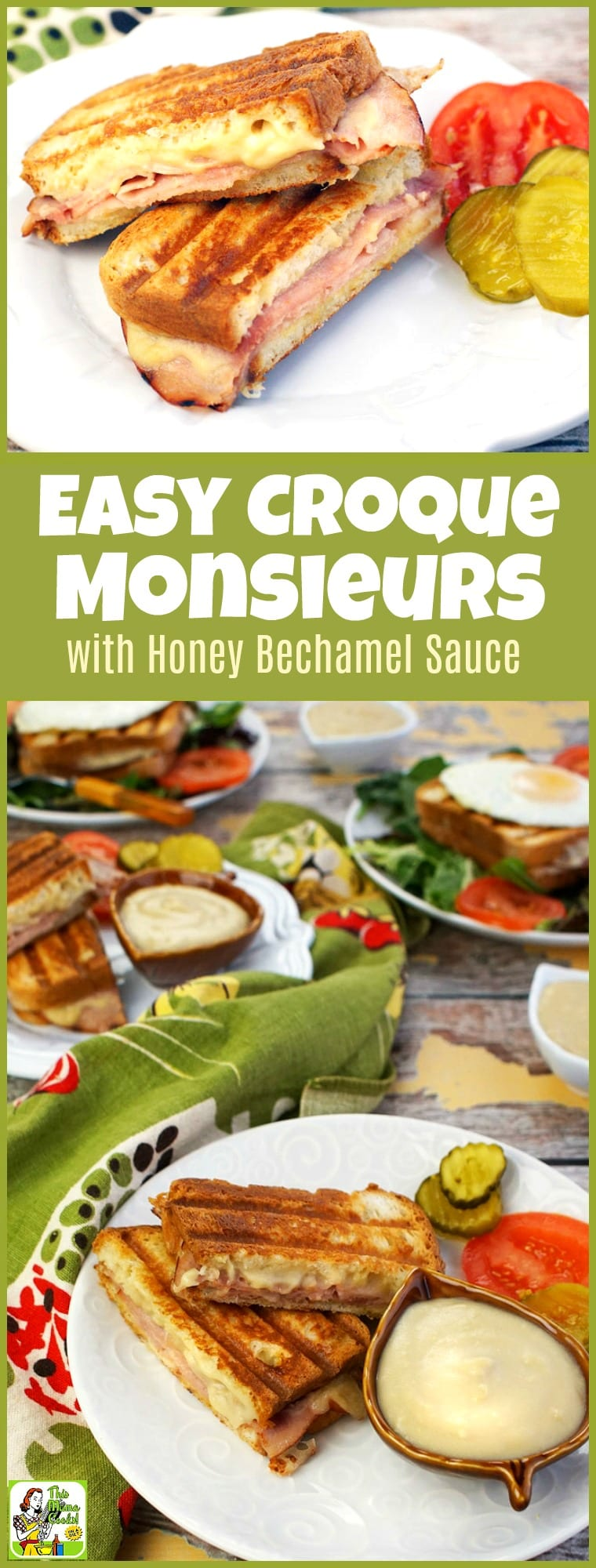 Just because you're gluten free doesn't mean you can't enjoy an Easy Croque Monsieur with Honey Bechamel Sauce! Just use gluten free bread, ham and the included honey bechamel sauce recipe. Add a fried egg on top and turn it into a croque madame recipe that's perfect to entertain friends and family for brunch. #recipe #easy #recipeoftheday #healthyrecipes #glutenfree #easyrecipes #breakfast #brunch #snack #snacks #panini #grilledcheese #sandwiches #ham #cheese #honey #bechamel