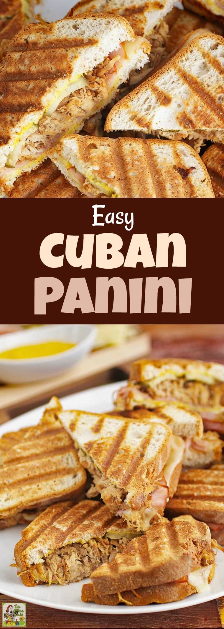 Looking for an authentic Cuban sandwich recipe that's gluten free? Try making this Easy Cuban Panini! This Cuban pulled pork sandwich recipe uses slow cooker pork on gluten free bread grilled panini sandwich style. #recipe #easy #recipeoftheday #healthyrecipes #glutenfree #easyrecipes #snack #snacks #dinner #easydinner #panini #grilledcheese #sandwiches #slowcooker #crockpot #pork #cuban