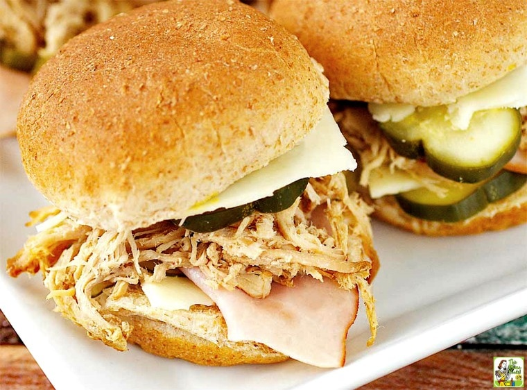 Cuban Sliders - you'll love these mini Cuban Sandwiches
