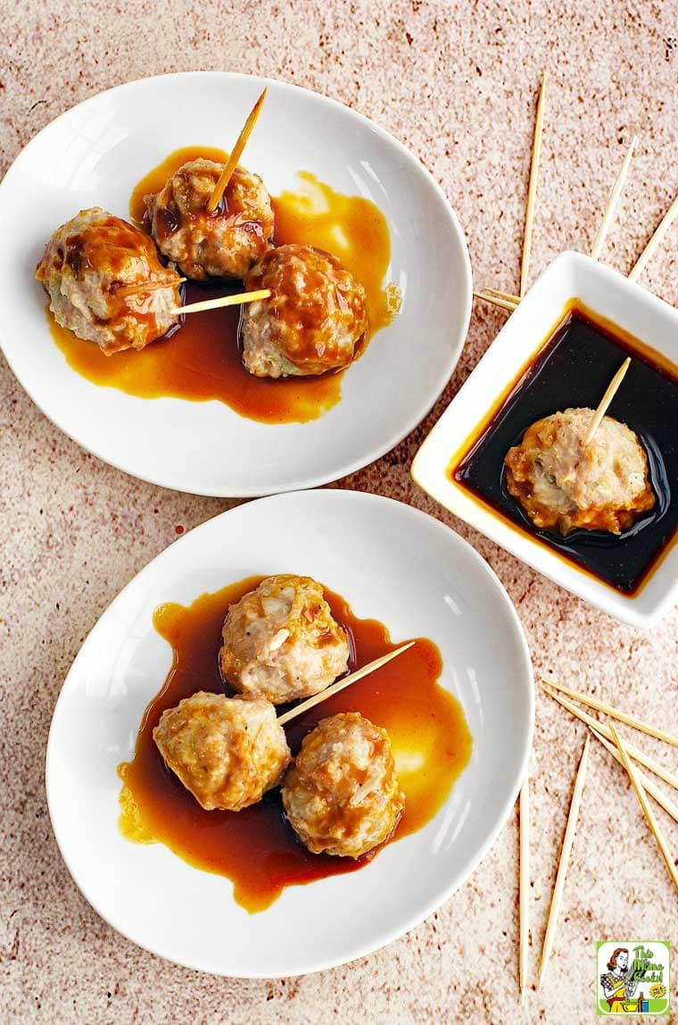 Asian Style Gluten Free Meatballs - this pork meatball recipe is gluten free and dairy free.