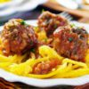 Zesty Slow Cooker Porcupine Meatballs