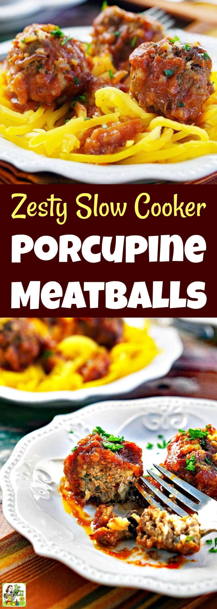 Zesty Slow Cooker Porcupine Meatballs Recipe