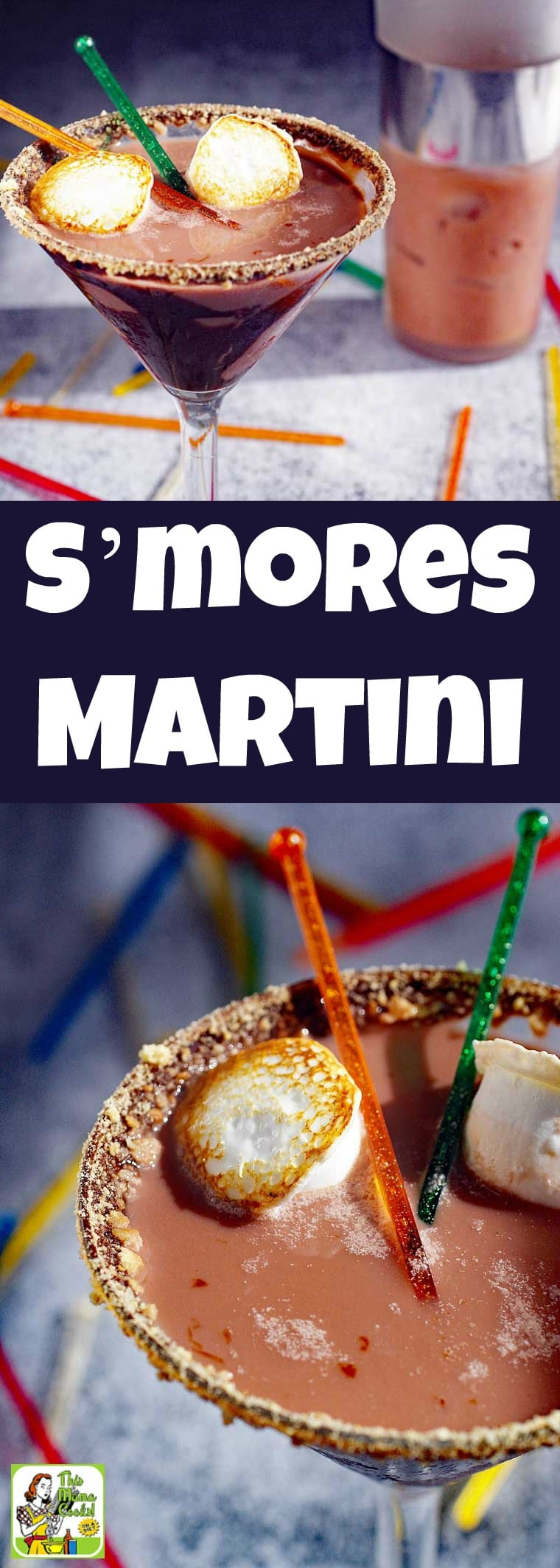 A S'mores Martini is a chocolate martini recipe that tastes like making s'mores and roasting marshmallows over a campfire. It's made with marshmallow vodka, chocolate coconut milk and is dairy free and gluten free. It's the ultimate chocolate martini cocktail drink for Christmas, New Year's Eve or Valentine's Day. #recipe #easy #recipeoftheday #glutenfree #drinks #cocktails #Christmas #NewYearsEve #chocolate #martini #cocktailrecipe #drinkrecipe #dairyfree #smores #vodka #vodkacocktail