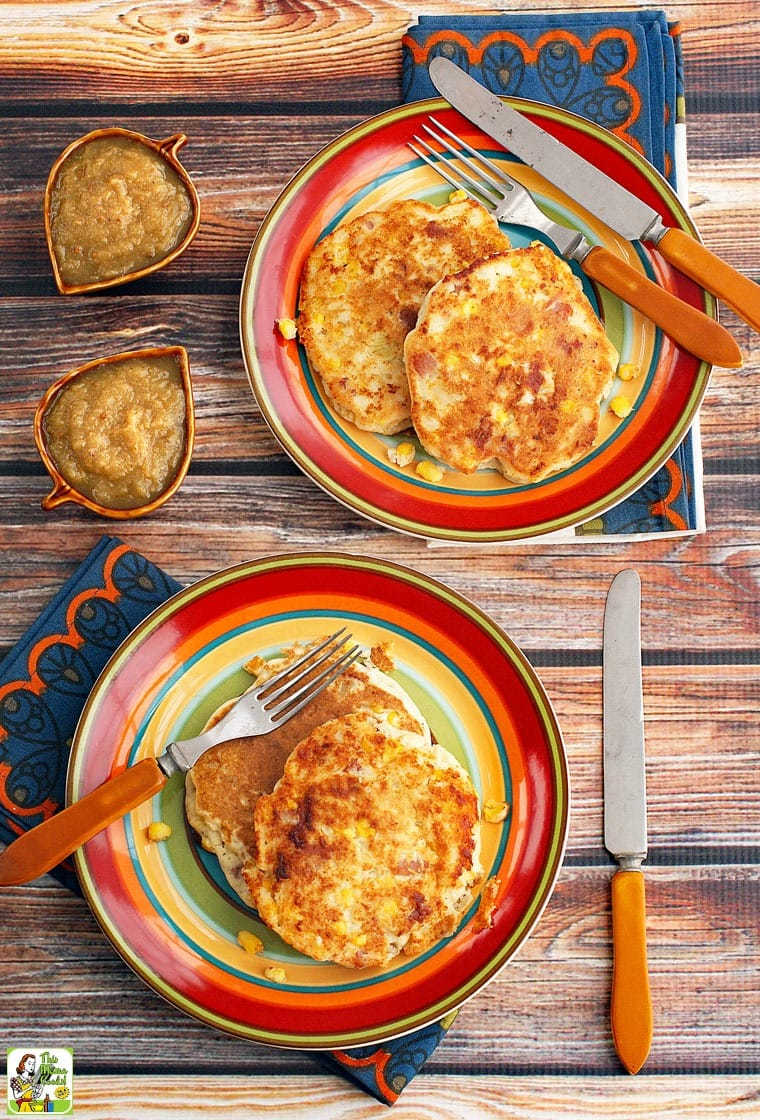 This easy corn fritters recipe is made with frozen corn, rice milk, gluten free all purpose flour and ham.