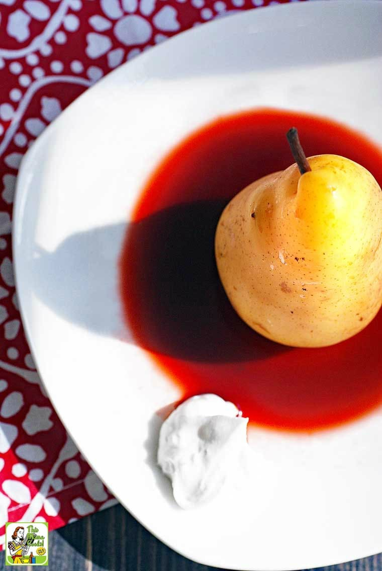 Slow Cooker Poached Pears are dairy free and vegan.