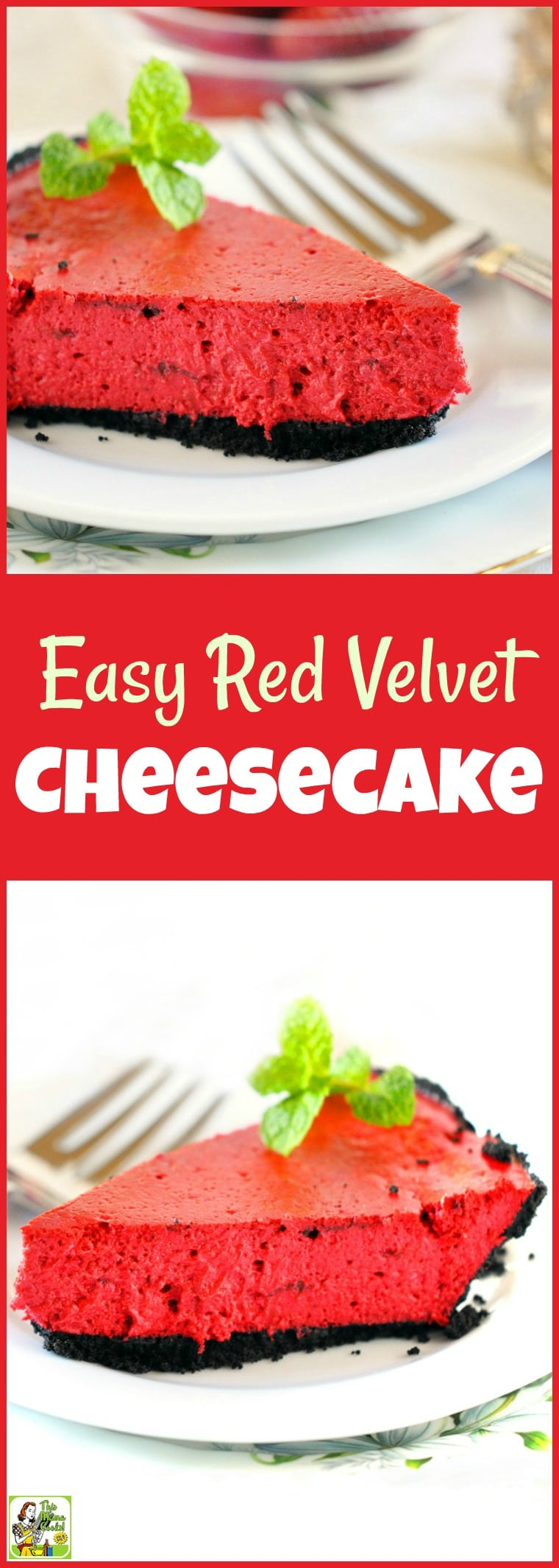 Looking for an Easy Red Velvet Cheesecake recipe? Make this simple and healthy red velvet dessert recipe for Valentine's Day, Christmas, Fourth of July, Memorial Day, Labor Day. Gluten free and dairy free options. Diabetic friendly. #recipe #easy #recipeoftheday #healthyrecipes #glutenfree #easyrecipes #desserts #dessertrecipes #dessertideas #baking #bakingrecipes #easybaking #cake #cakerecipes #cheesecake #cheesecakerecipes #redvelvet #redvelvetcake #diabeticrecipes #diabeticlifestyle #diabetic #diabeticliving