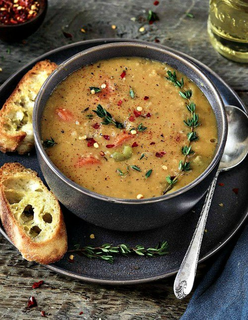 Vegan Instant Pot Recipes - yellow split pea soup