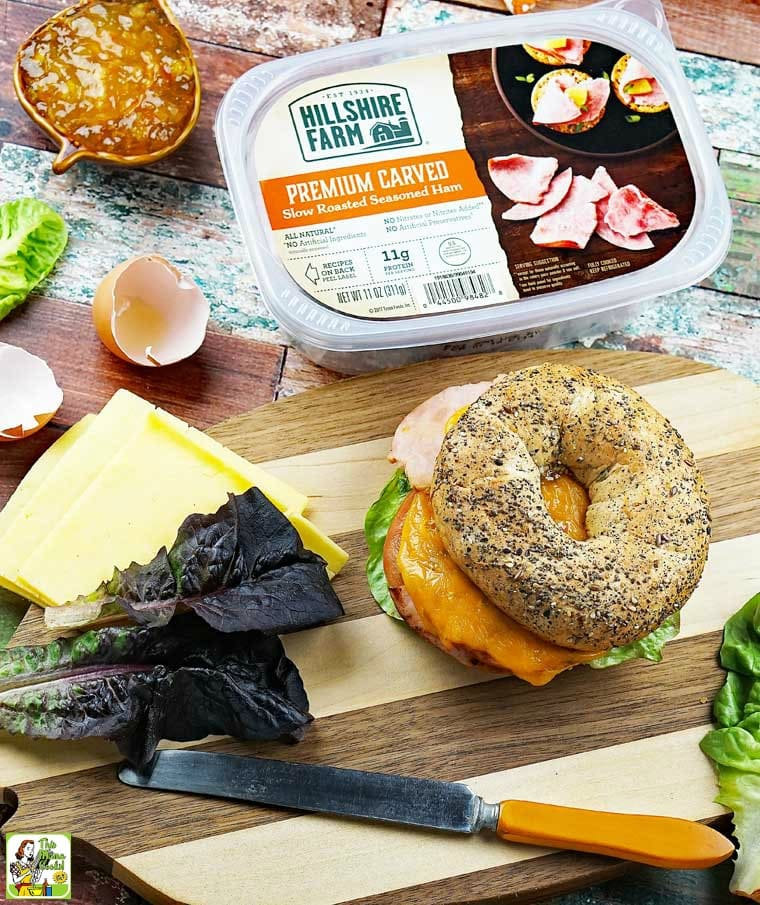 Make a special bagel sandwich with a little help from Hillshire Farm