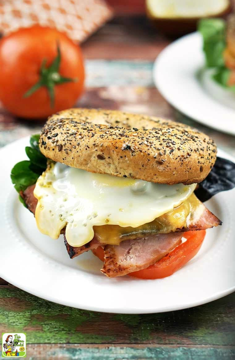 More of a breakfast bagel person? Then turn the Ultimate Bagel Sandwich into a breakfast bagel sandwich by adding an egg.