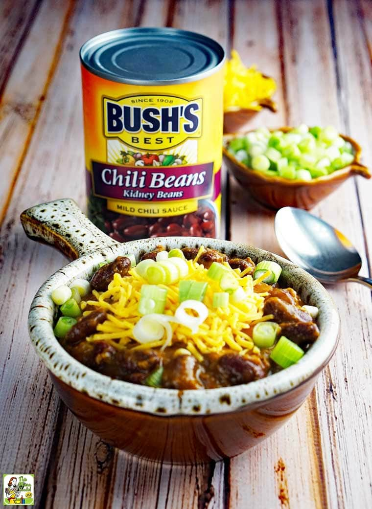Instant Pot Chili made with Bush's Kidney Chili Beans