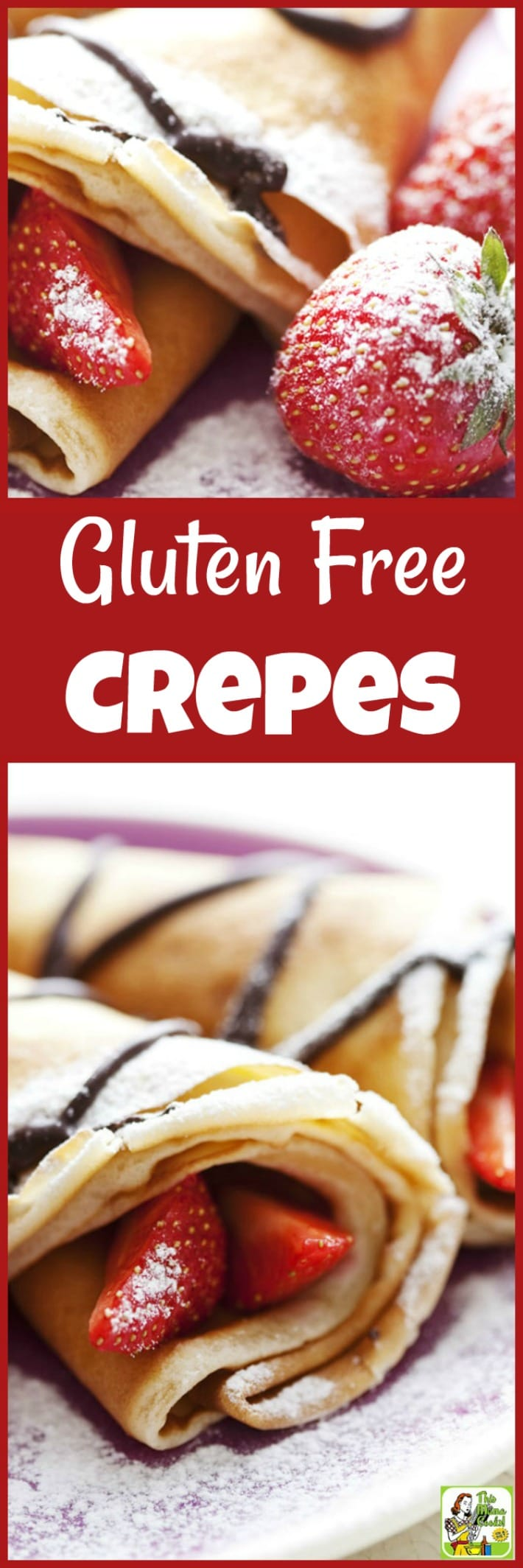 Serve Gluten Free Crepes for Valentine's Day,  Pancake Tuesday or Mother's Day. It's also a paleo crepe recipe with a few substitutions. #pancaketuesday #recipes #recipeoftheday #healthyrecipes #easyrecipe #easyrecipe #breakfast #brunch #dessert #dessertrecipes #crepes #pancakes #pancakerecipes #pancakesfromscratch #pancakeday #crepesrecipe