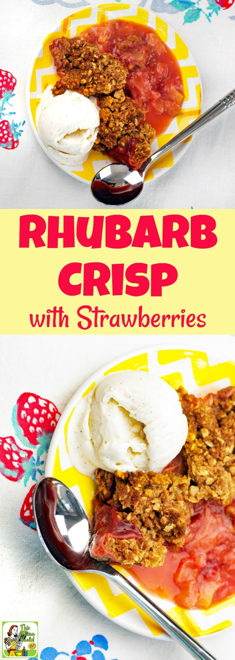 Rhubarb Crisp with Strawberries