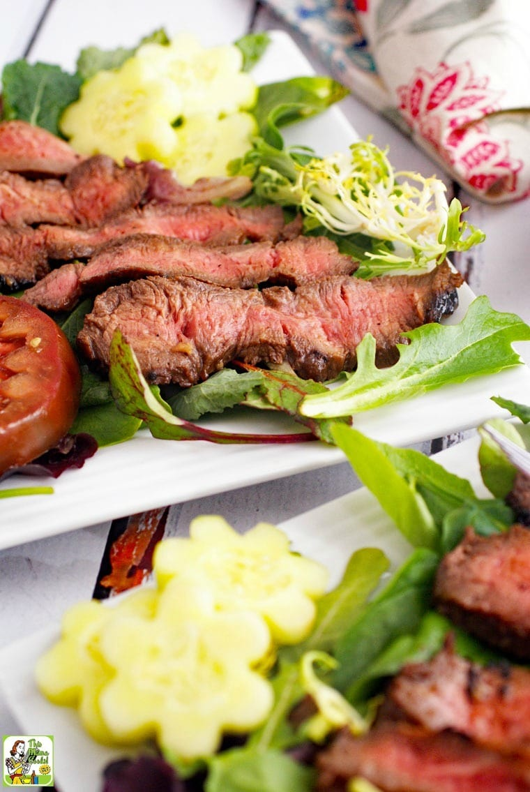 Flat Iron Steak Salad with Yogurt Dressing