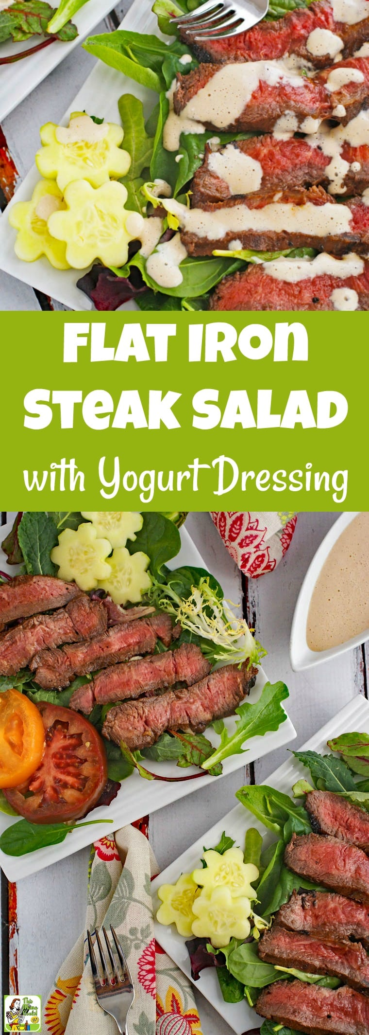 Flat Iron Steak Salad with Yogurt Dressing Recipe