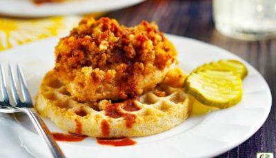 Nashville Hot Chicken and Waffles Recipe