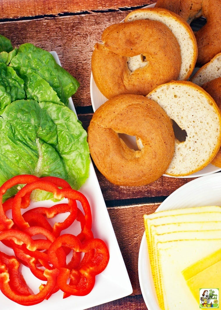 Making your bagel burger gluten free