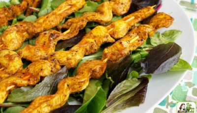 Chicken Shawarma Appetizers with Dipping Sauce