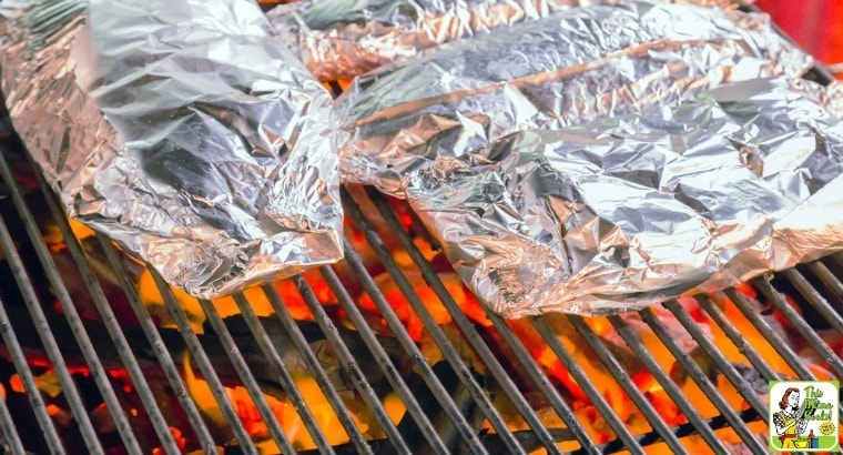 grilled salmon in foil easy camping recipe
