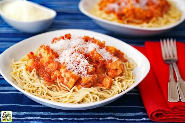 Delicious spaghetti with cauliflower
