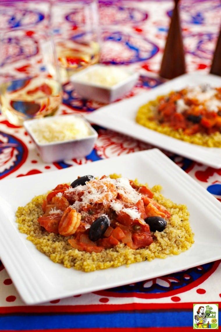 Make puttanesca sauce with shrimp