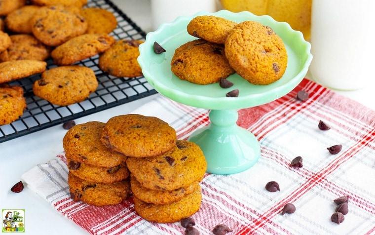 Pumpkin makes this egg free cookie dough super moist!
