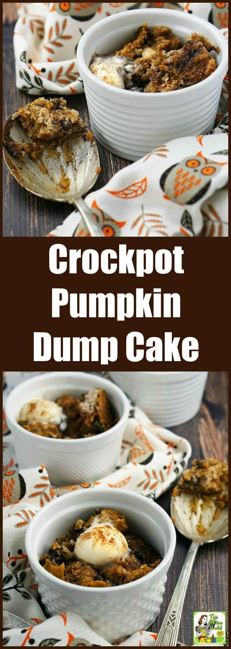 Crockpot Pumpkin Dump Cake Recipe