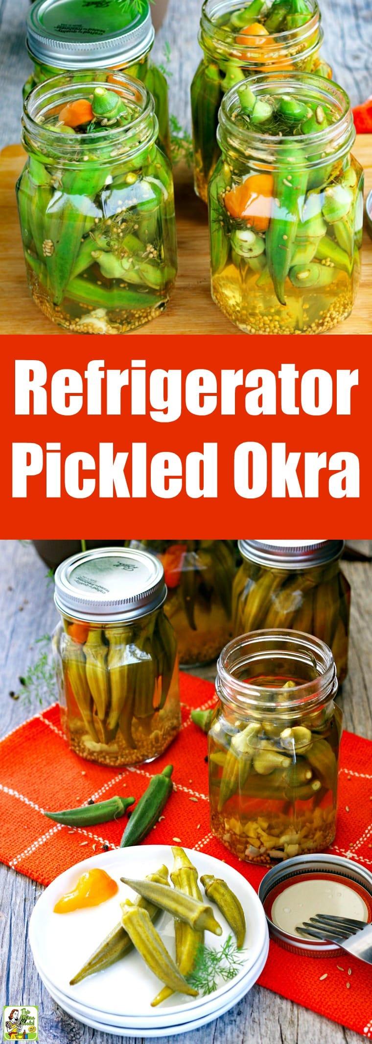 Refrigerator Pickled Okra Recipe