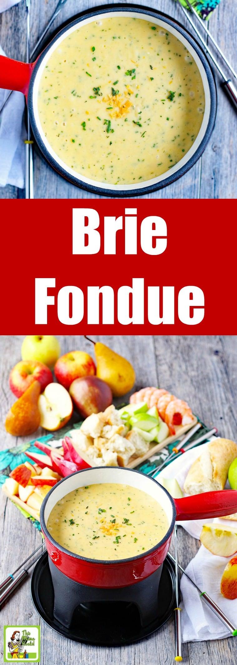 Brie & Chive Fondue Recipe